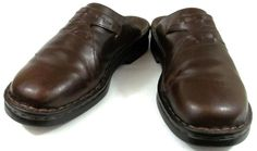 Clarks Shoes Womens Size 11 M Brown Leather Mules #Clarks #Mules