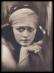 The actress and singer Pola Negri