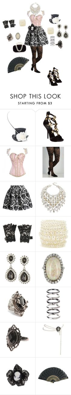 """""""Dream Outfit for Drag"""" by toxxic-venom on Polyvore featuring Victoria Grant, Giuseppe Zanotti, Chicwish, Schreiner, Forever 21, Charlotte Russe, Emily & Ashley, Vintage, Juicy Couture and M.N.G"""
