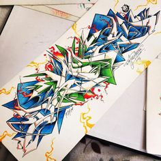 Graffiti BlackBook : Amazong Sketch BlackBook Graffiti Letter Design With…