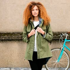 As Bold As Women's Cycling Drench Coat - Olive Green | Cyclechic | Cyclechic