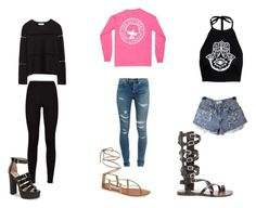"""""""summer of love"""" by ohthatsnai on Polyvore featuring beauty, Boohoo, Zara, Yves Saint Laurent and Steve Madden"""