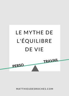 Le mythe de l'?quilibre de vie Burn Out, Self Help, Personal Development, Clinic, Bar Chart, Business, Attitude Positive, Organiser, Lifestyle