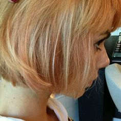 Hair color, rose gold!