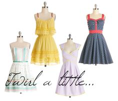 Twirl A Little...I love these fun sundresses!