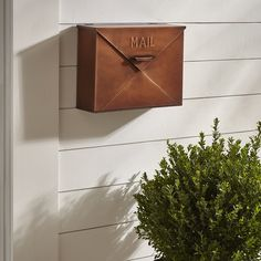 Darby Home Co Hinton Wall Mounted Mailbox. Love the vintage look to this mailbox. Darby Home Co Hi Mailbox On House, Porch Mailbox, Mailbox Post, Mailbox Ideas, Front Porch, Farmhouse Mailboxes, Rustic Mailboxes, Vintage Mailbox, Modern Mailbox