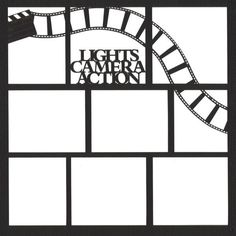 Lights, Camera,Action 12 x 12 Overlay Laser Die Cut ($4.25) ❤ liked on Polyvore