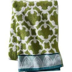 Threshold Global Medallion Hand Towel, Green/Blue