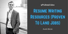 Cultivated Culture | Resume Writing Resources - Cultivated Culture My Resume, Resume Writing, Free Resume Builder, Resume Review, Effective Resume, Tracking System, Writing Resources, Job Offer, My Job