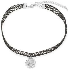 Cara Crystal Woven Choker ($15) ❤ liked on Polyvore featuring jewelry, necklaces, black, pendant necklace, braid jewelry, crystal necklace, crystal stone necklace and crystal pendant necklace