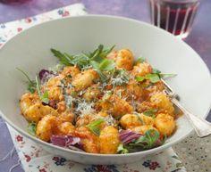 Gnocchi à la crème de poivron : Recette de Gnocchi à la crème de poivron - Marmiton
