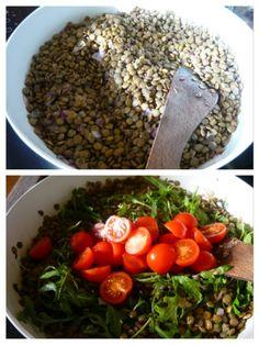 Šošovicový šalát s paradajkou a rukolou (fotorecept) - obrázok 2