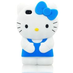 3D Hello Kitty Soft Silicon Cover Case For Apple iPhone 4