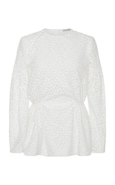 EMILIA WICKSTEAD EMILIA WICKSTEAD DIDI LONG SLEEVE PEPLUM TOP. #emiliawickstead #cloth #