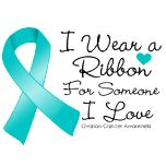 Ovarian Cancer Awareness ~ Ribbon Someone I Love Ovarian Cancer Ribbon, Types Of Ovarian Cancer, Ovarian Cancer Awareness, Cervical Cancer, Breast Cancer, Thyroid Cancer, Colon Cancer, Cancer Cells, Natural Cancer Cures