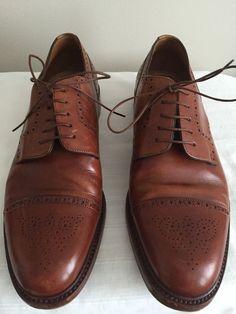 Santoni Men's Goodyear Cognac Captoe Oxford Size 11 | eBay