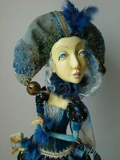 OOAK Art Doll Little yellow bird by VilmaDolls on Etsy, $450.00