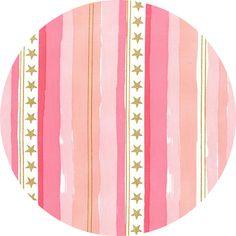 Sarah Jane for Michael Miller, Magic!, Stars and Stripes Metallic Pink