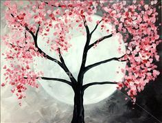 Springtime Full Moon  - Painting with a Twist