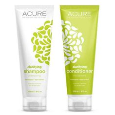 Acure Organics Shampoo + Conditioner - Clarifying - Lemongrass - Bundle