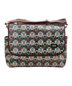 Take a look at this Mod Floral Messenger Diaper Bag by OiOi on #zulily today!