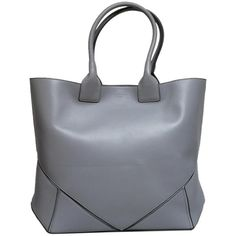 Pre-owned Givenchy Blue/gray Tote Bag ($998) ❤ liked on Polyvore featuring bags, handbags, tote bags, zippered tote bag, grey tote bag, blue tote, leather handbags and gray tote bag