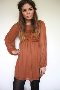 I want a long sleeve dress like this
