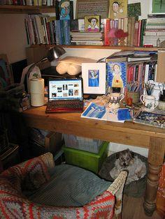 My work space plus Mabel!! | Flickr - Joy Williams