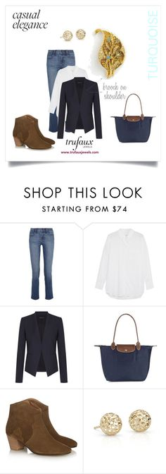 """""""December Birthstone"""" by trufauxjewels ❤ liked on Polyvore featuring J Brand, Equipment, Theory, Longchamp, Isabel Marant and Blue Nile"""