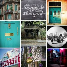 Colorful New Orleans collage