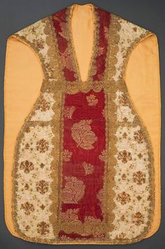 Chasuble founded by Queen Cecilia Renata of Austria by Anonymous from Poland and Italy, 1644, Muzeum Archidiecezji Warszawskiej (MAW); the chasuble, adorned with gold thread bobbin lace, was made from Queen's garments