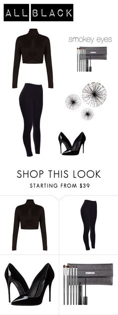 """all black"" by malinas01 on Polyvore featuring BCBGMAXAZRIA, Dolce&Gabbana, Sephora Collection, women's clothing, women, female, woman, misses and juniors"