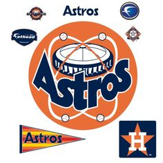 MLB Houston Astros Classic Logo Wall Decal -- You can get additional details at the image link.