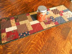 Country Colors Quilted Table Runner/Wall Hanging by RubysQuiltShop