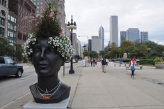 Interesting planter; Chicago, Illinois