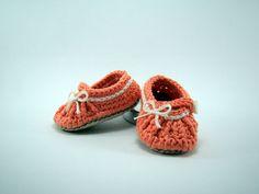 Patucos para bebé tipo bailarina de Varetas & Jaretas por DaWanda.com