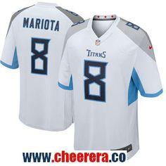 918f079e8c9 Men s Tennessee Titans  8 Marcus Mariota Nike White New 2018 Game Jersey  Tennessee Titans Jersey