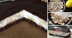 FITNESS kokosový dort s banány - FOTOPOSTUP