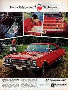Plymouth Fury, Valiant, Belvedere GTX for 1967