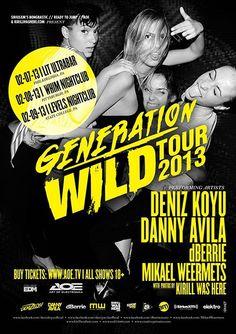 February 7, 2013 // GENERATION WILD TOUR // Deniz Koyu, Danny Avila, dBerrie, Mikael Weermets, & Amenzo // LIT Ultrabar - #edm #housemusic #electro #show #rave #dance #music #dj #philly