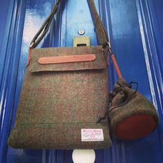 """Technology and tradition.  Macbook Pro 13"""" .... & Harris Tweed made on the Outer Hebrides by a weaver at his pedal loom."""