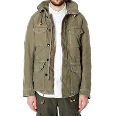 visvim offers his unique take on the military M-65 Jacket with the release of the P.F.D Jacket. With reference from military and the outdoors wear, the jacket features a large rounded collar and four front pockets with custom branded gold snaps. The garment is crafted in Japan from a mid-weight, cotton chino cloth, which has been lightly washed for a worn-in aesthetic. Front closure is offered via a durable metallic zipper with hidden button storm flap providing additional weather…