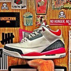 Air Jordan III Retro Fire Red #jordan #sneakers