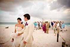 BEACH WEDDING - CREAM FUCHSIA -brian dorsey studios - new york wedding photographers and destination wedding photographers
