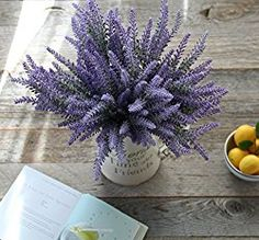 Duovlo Lavender Artificial Flower Purple Bouquet Arrangements for Home Decor and Wedding Decorations 8 Bundles & BASKET& Lavender Bouquet, Lavender Flowers, Silk Flowers, Country Wedding Centerpieces, Wedding Decorations, Garden Decorations, Fake Plants, Hanging Plants, Wedding Boxes