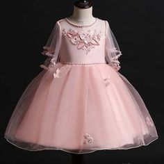 Party Flower Girl/'s Dress Shoes Comfy Chiffon Floral Topper Toddler Little Kids