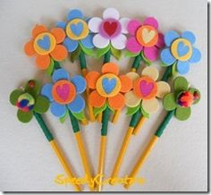 felt pencil toppers - coprimatita in feltro