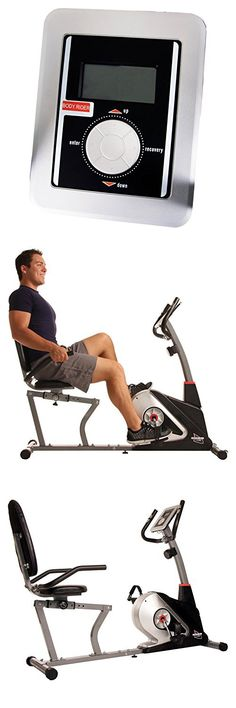 Body Champ BRB3558 Magnetic Recumbent Exercise Bike, Black/Silver