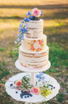 Naked Cake  Naked Cake Three tier naked cake  #naked #naked-cake #nakedcake #seminakedcake #cakecentral