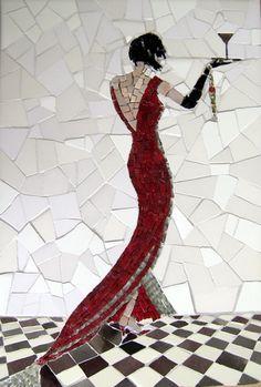 Mozaika przedstawiająca kobietę. www.facebook.com/CeramikaParadyz